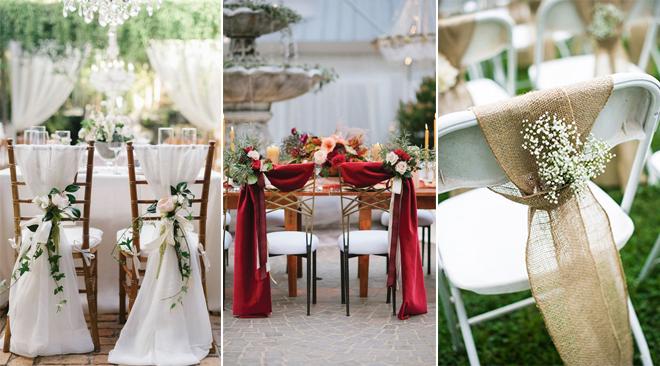 Tissu Et Fleurs Deco Chaises Mariage