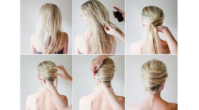 Étonnant 7 coiffures de mariée DIY faciles et canons DM-75