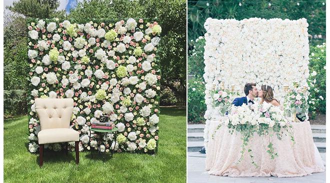 mur fleur artificielle