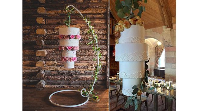 Wedding Cakes Suspendus