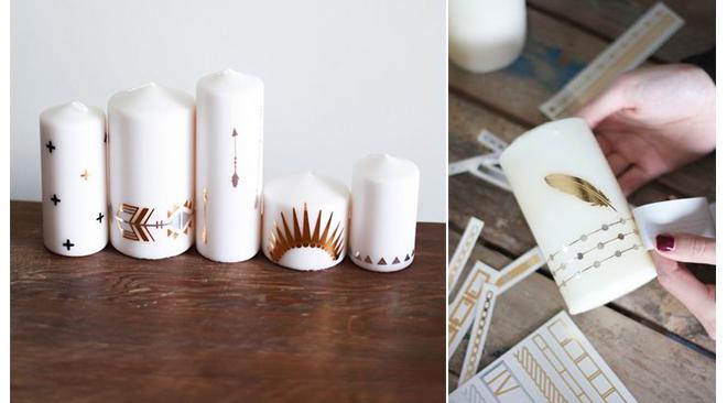 customiser-bougies-avec-tatouages-ephemeres