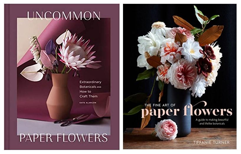 Livre fleurs en papier