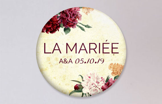 badges mariage Automne
