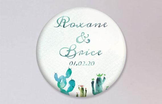 badges mariage Désert