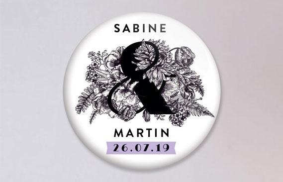 badges mariage Esperluette