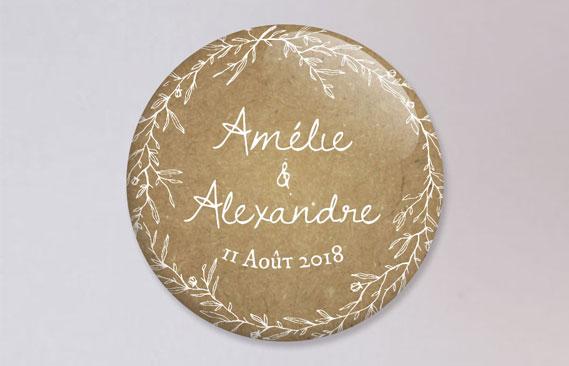 badges mariage Kraft