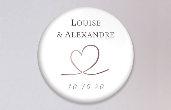 badges mariage Love