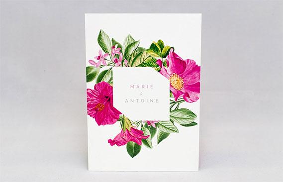 faire-part mariage Floral