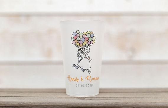 gobelets mariage Ballons