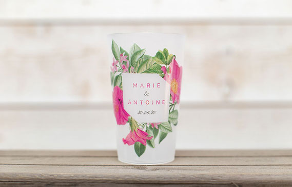 gobelets mariage Floral