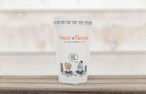gobelets mariage Invitations