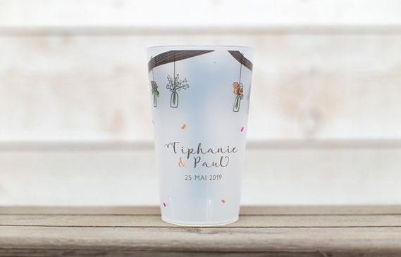 gobelets mariage Vases suspendus