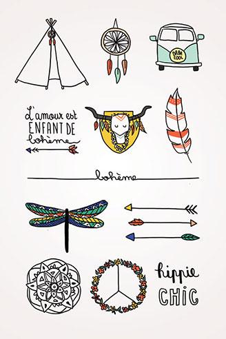 tattoos mariage Bohème