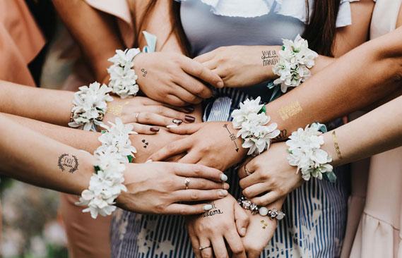 tattoos mariage EVJF mariée