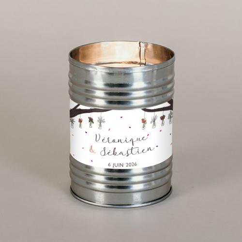 gobelet de mariage Vases suspendus à personnaliser