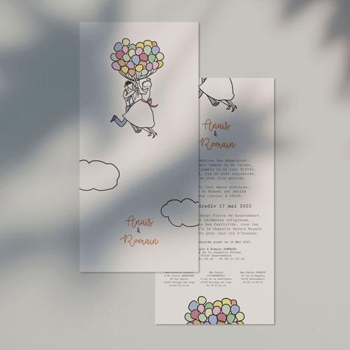 gobelet de mariage Ballons à personnaliser