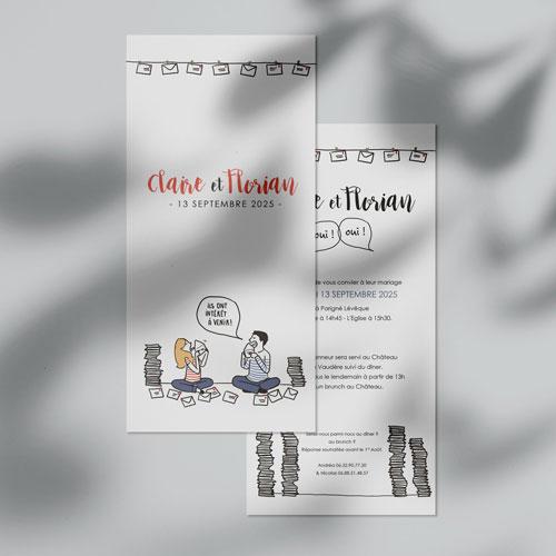 gobelet de mariage Invitations à personnaliser