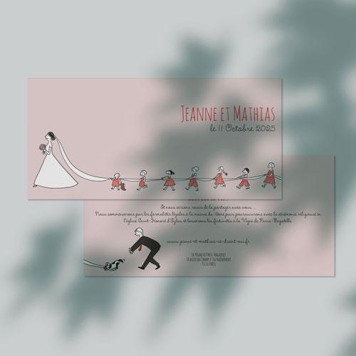 gobelet de mariage Traîne de la mariée à personnaliser