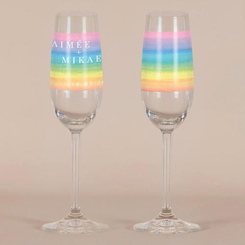 gobelet de mariage Rainbow à personnaliser