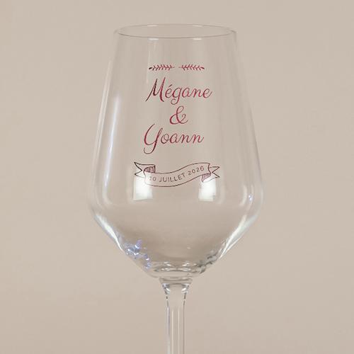 gobelet de mariage Burgundy à personnaliser