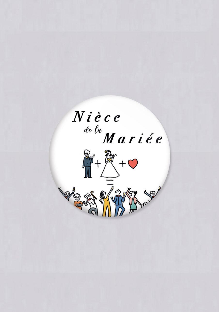 badge mariage Addition