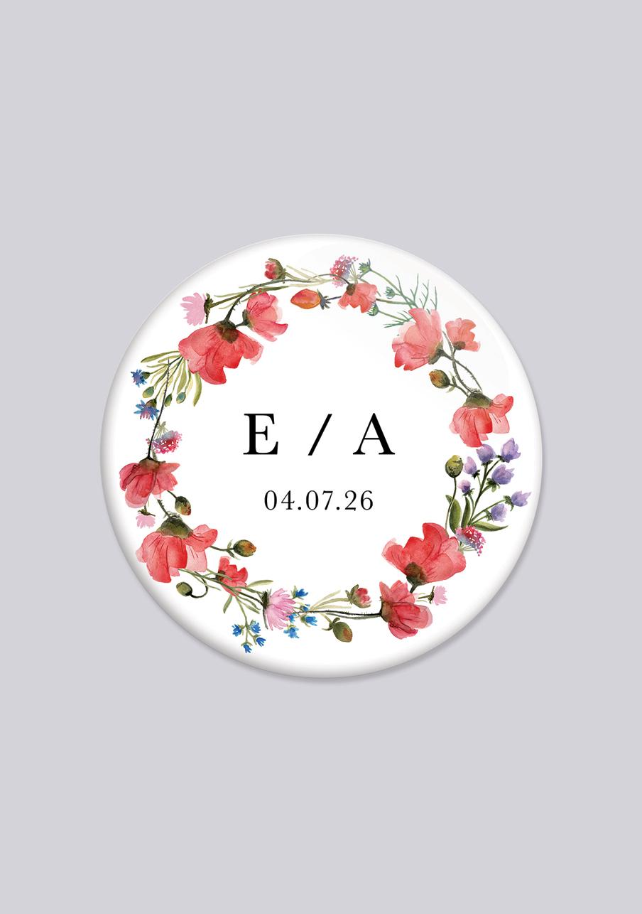 badge mariage personnalisé Alexandria