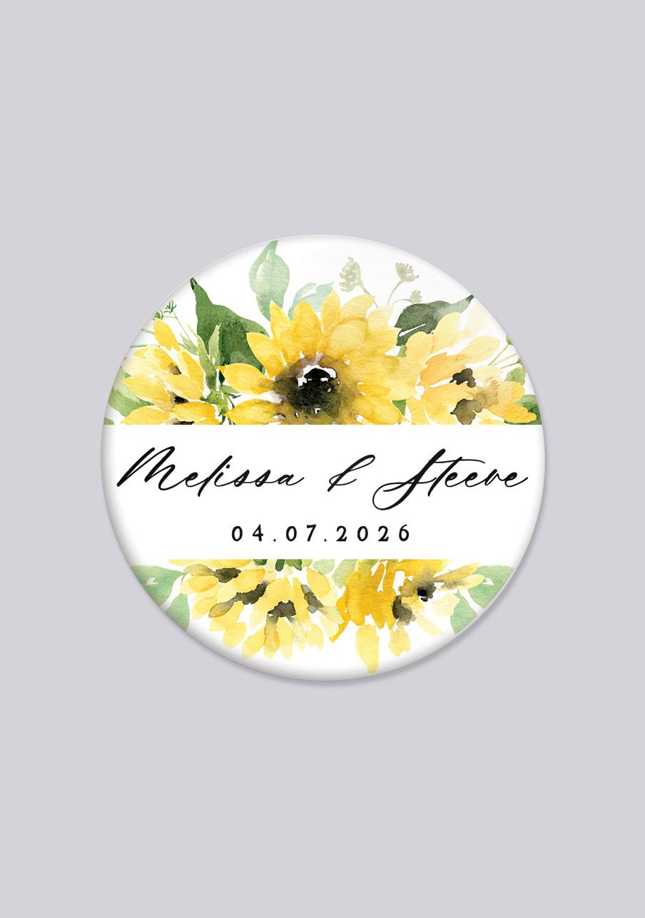 badge mariage personnalisé Ama
