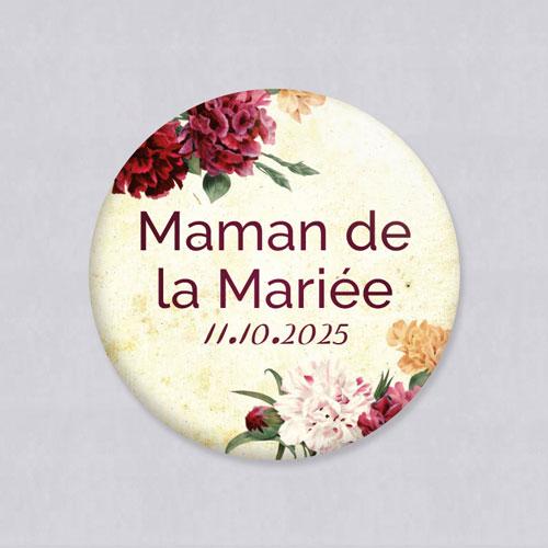 Badge de mariage automne à personnaliser