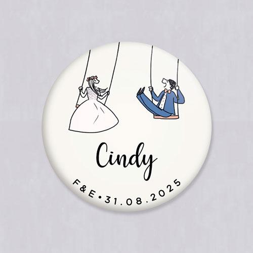 Badge de mariage balancoires à personnaliser