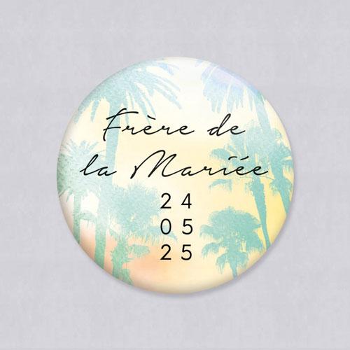 Badge de mariage beach à personnaliser
