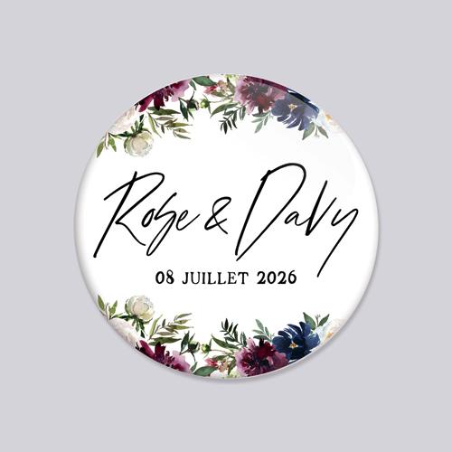 Badge de mariage belladone à personnaliser