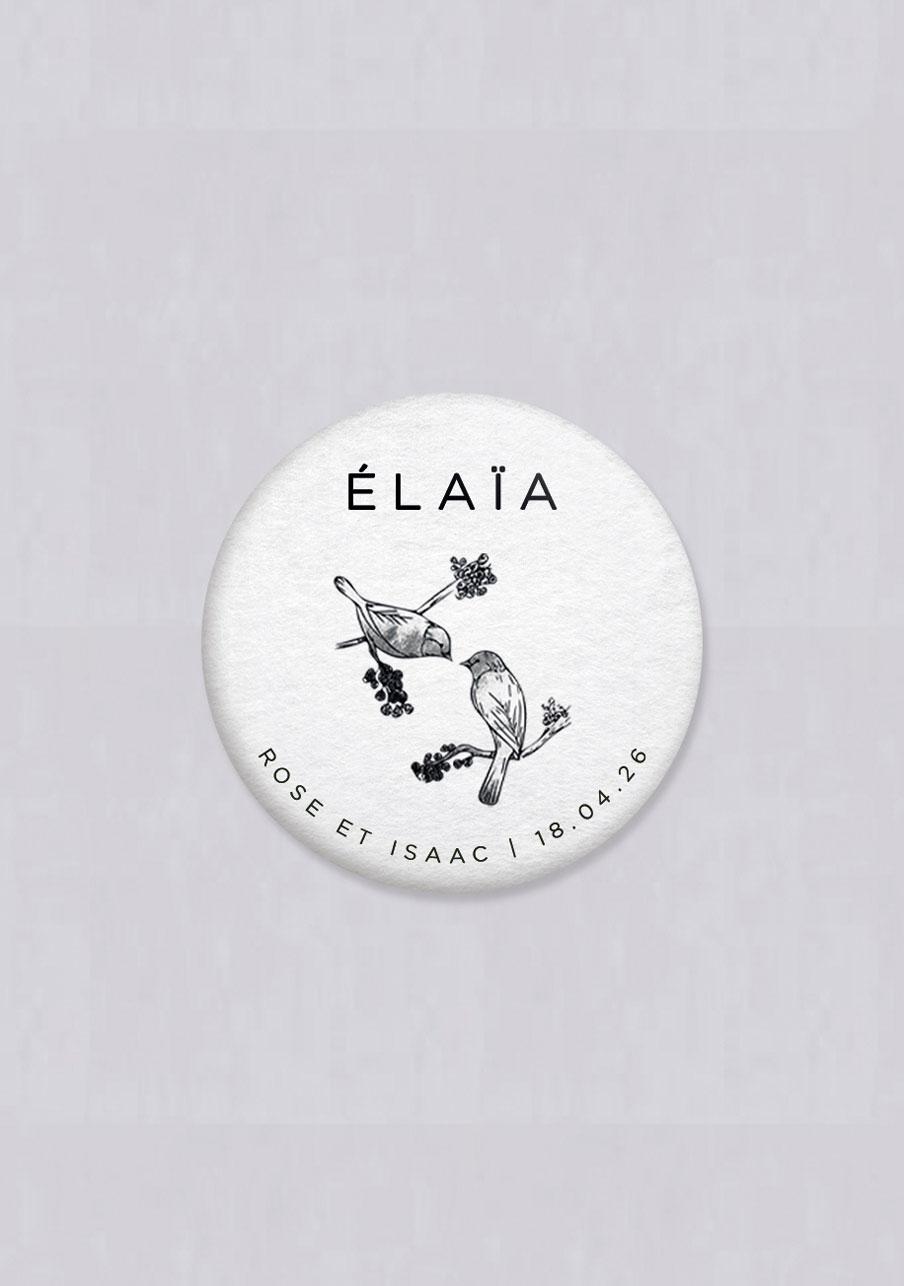 badge mariage Birds