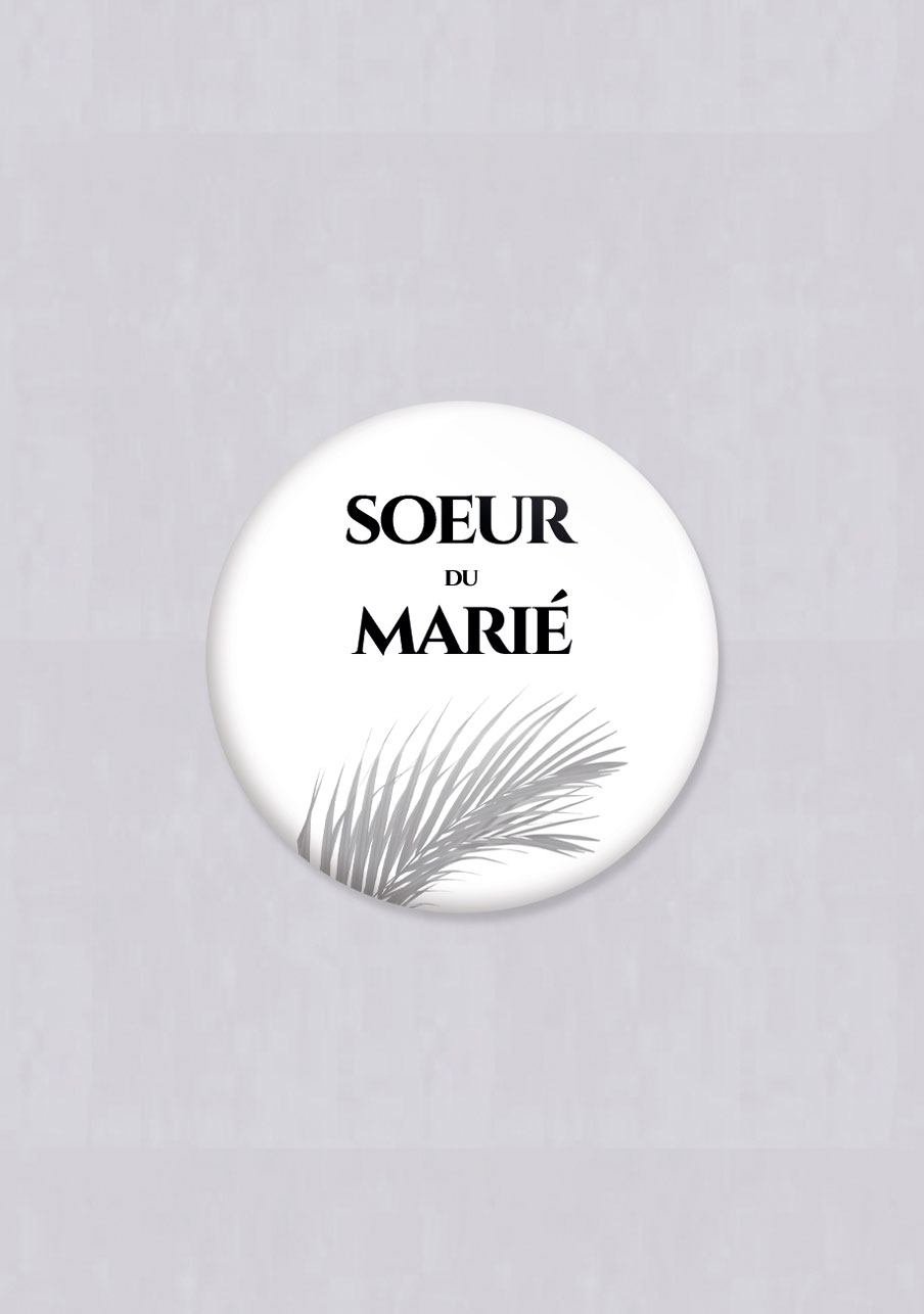 badge mariage Branche