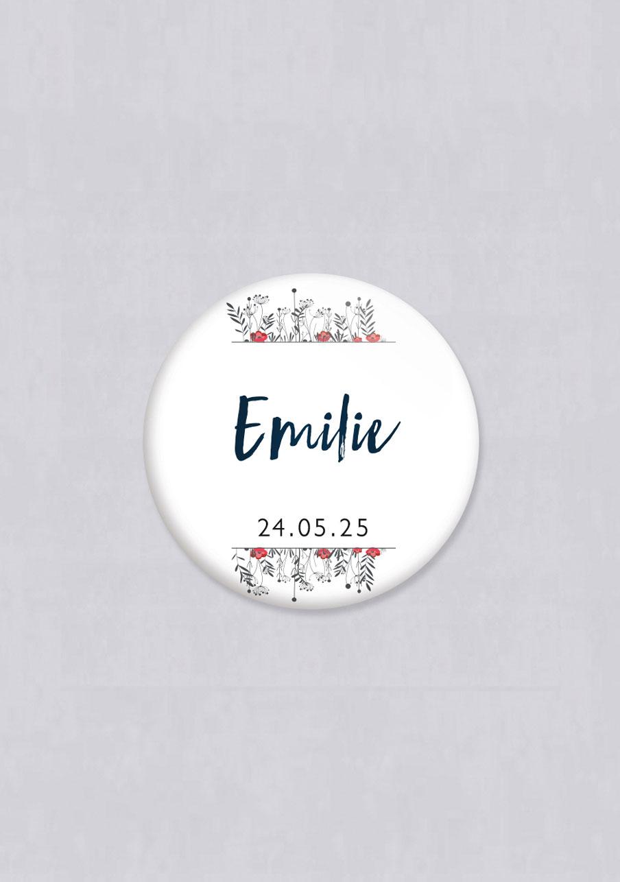 badge mariage personnalisé Brindilles
