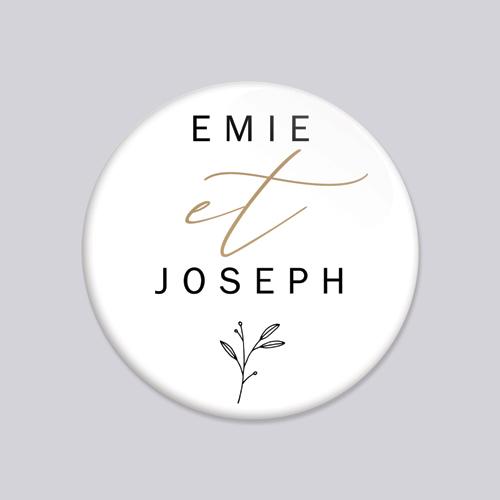 Badge de mariage brooklyn à personnaliser