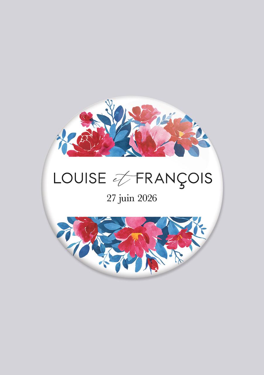 badge mariage personnalisé Charlotte