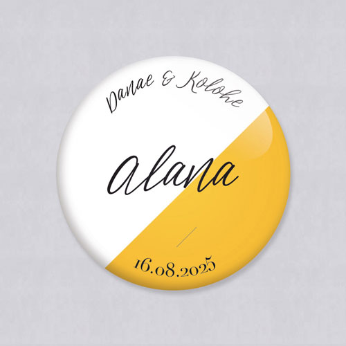 Badge de mariage color-block à personnaliser