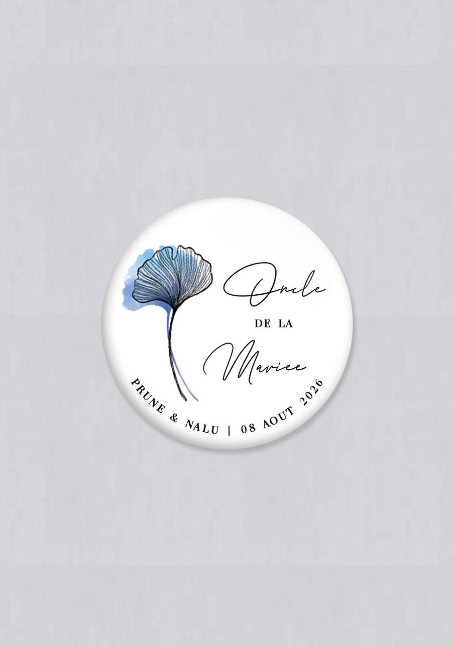 badge mariage Coquelicot