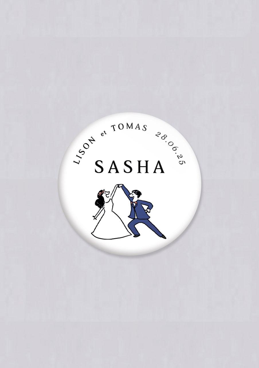 badge mariage Danseurs