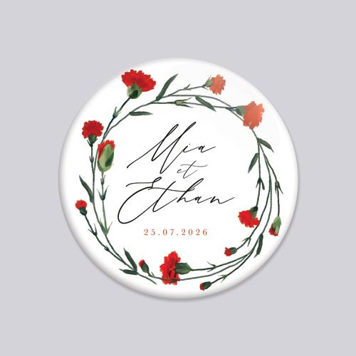Badge de mariage dellus à personnaliser