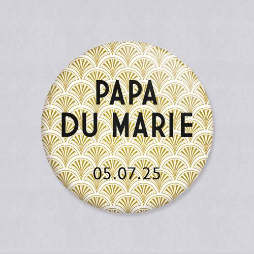 Badge de mariage gatsby à personnaliser