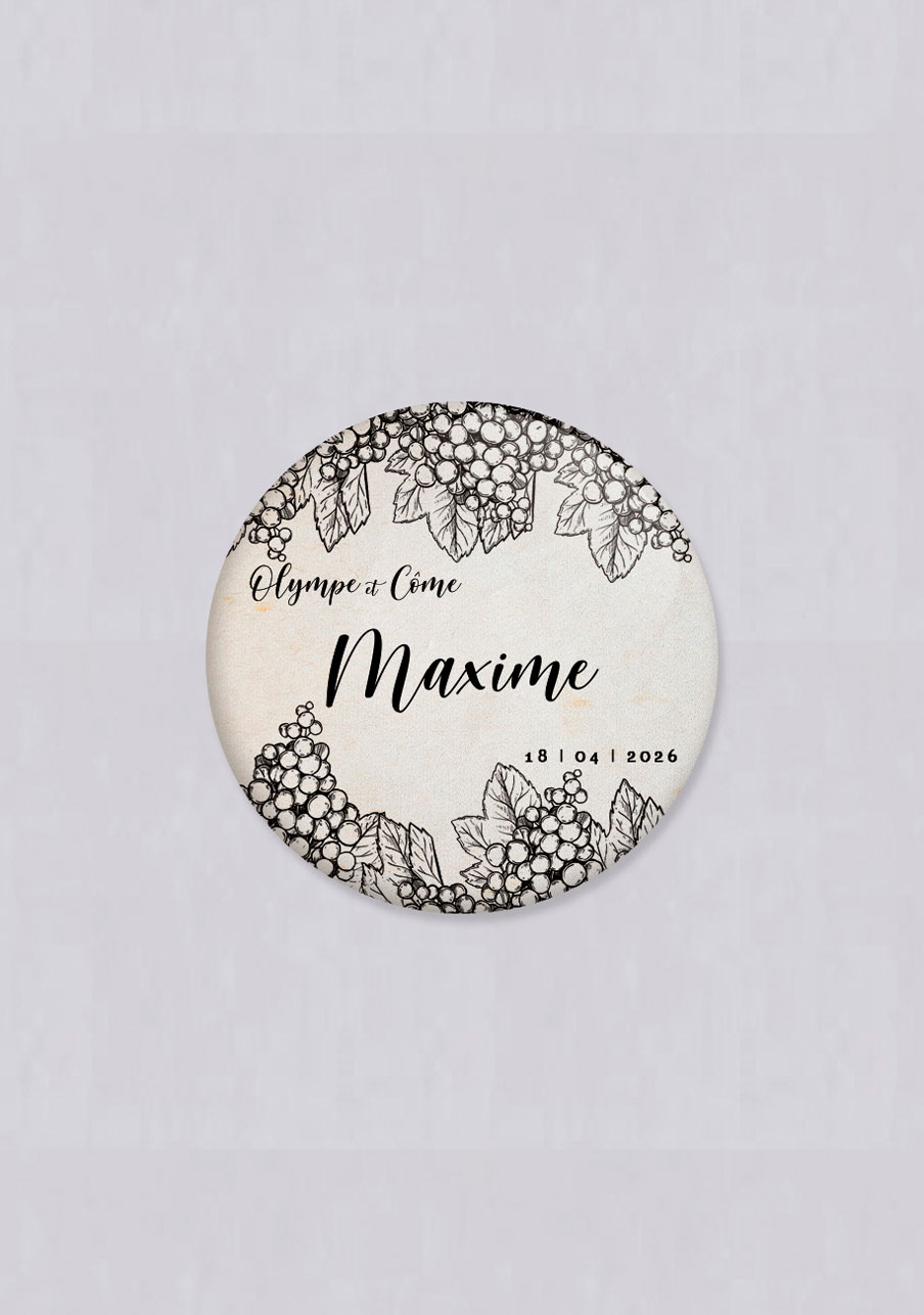 badge mariage Grappes
