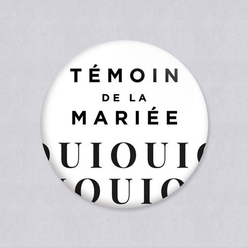 Badge de mariage lettering à personnaliser