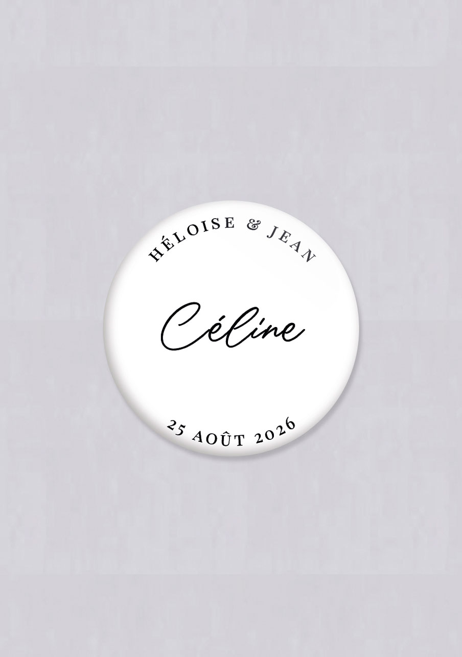 badge mariage Prénoms