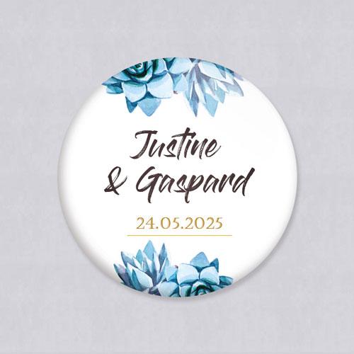 Badge de mariage succulentes à personnaliser