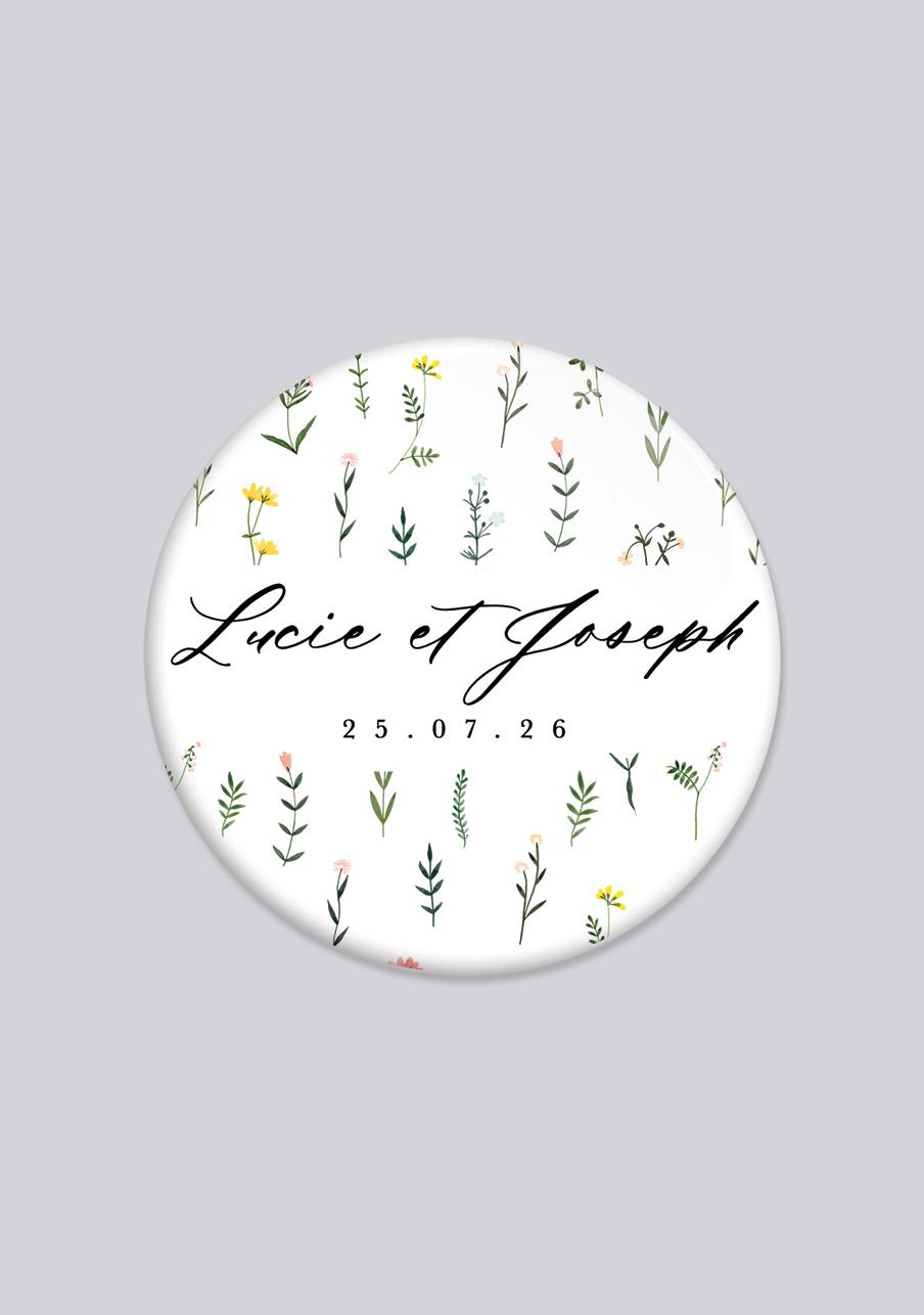 badge mariage personnalisé Tanaisie