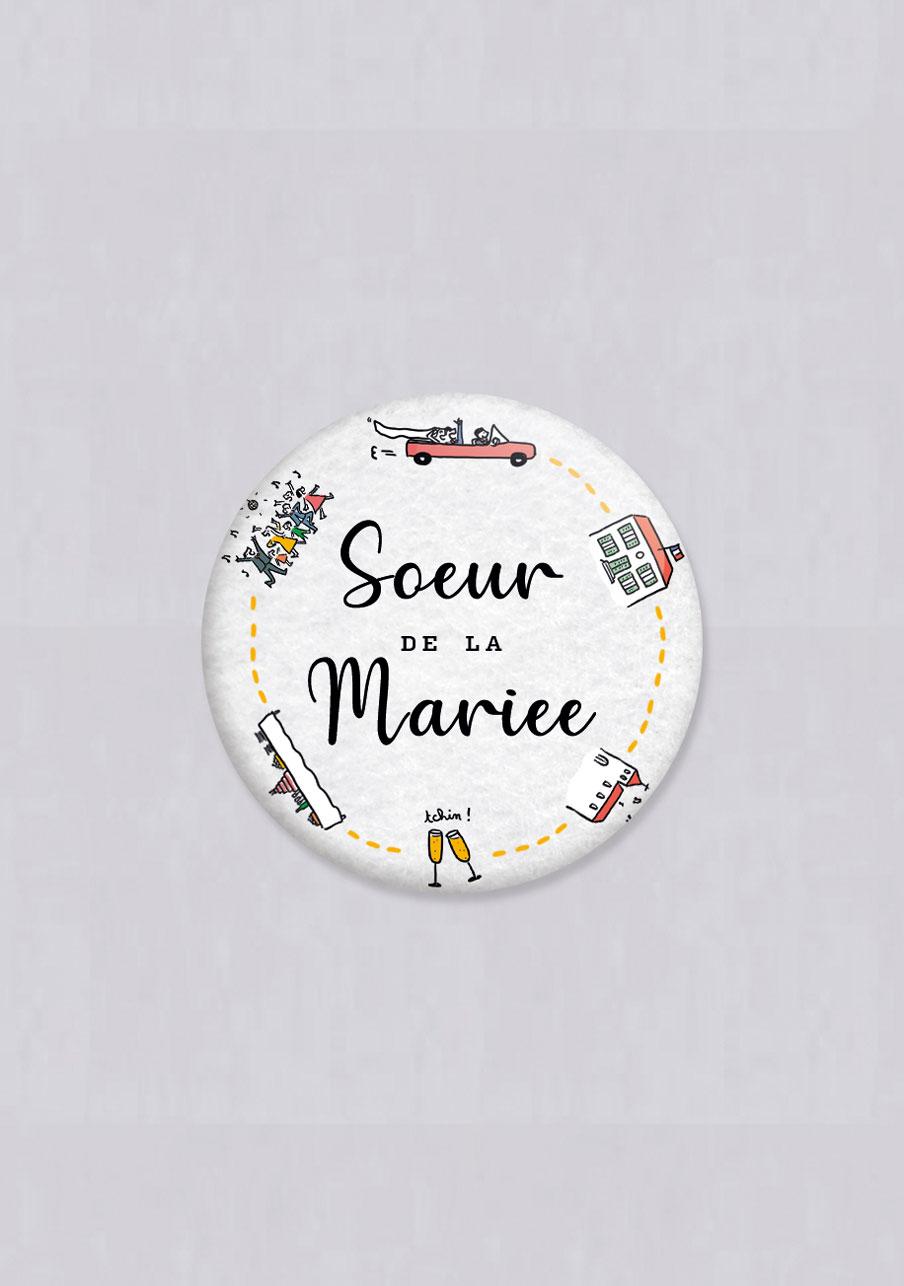 badge mariage Timeline