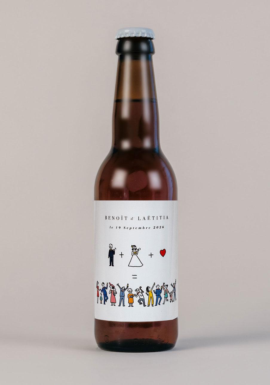biere mariage personnalisé Addition