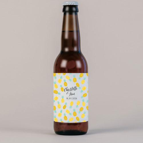 Bière de mariage ananas à personnaliser