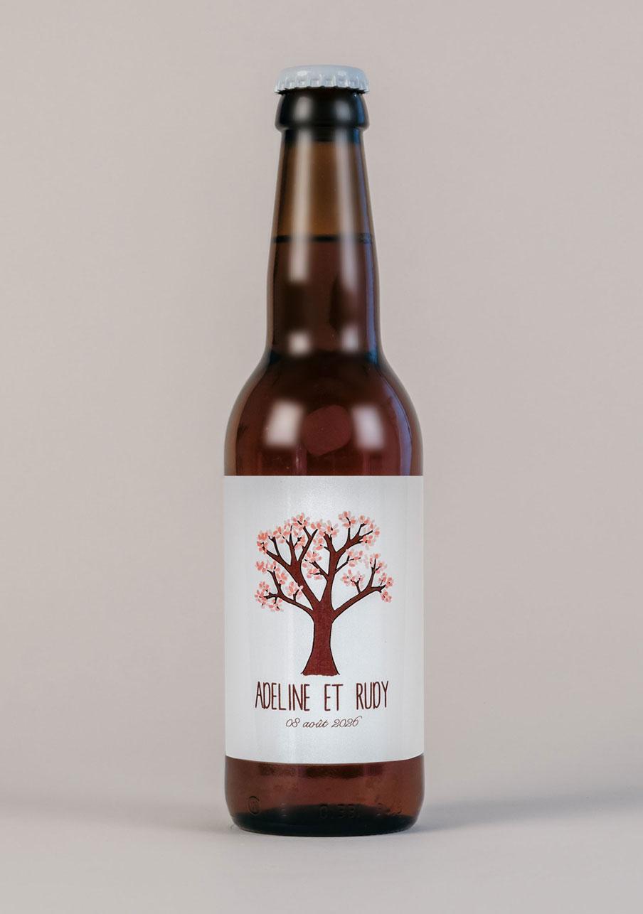biere mariage personnalisé Arbre